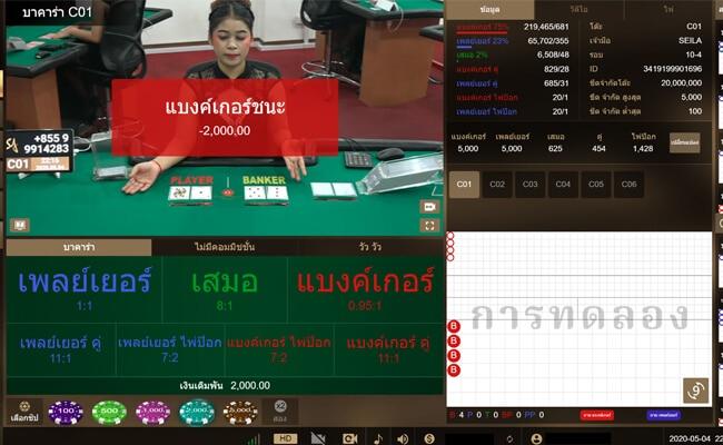 SAgaming โต๊ะ 1 บวก 1,800 บาท